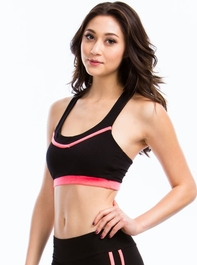Piped Dream Contrast Bra Top