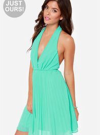 LULUS Exclusive My Marilyn Sea Green Halter Dress