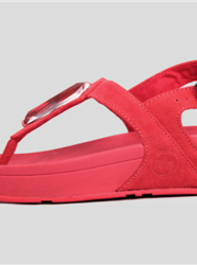 FitFlop Chada Diamond Red Sandals For Women