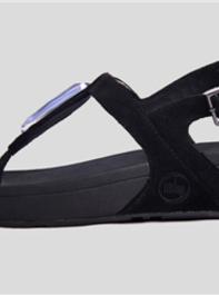 FitFlop Chada Blue Diamond Womens Sandals Black