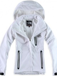 The North Face Womens White Windstopper Jacket