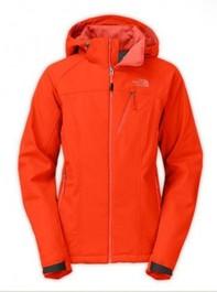 Orange North Face Apex Bionic Jacket Womens