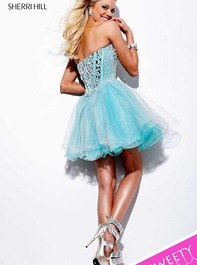 Strapless Party Aqua Prom Dress by Sherri Hill 1403Outlet