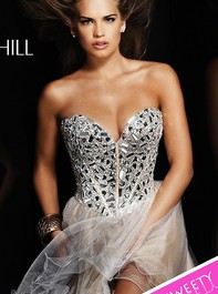 Strapless Party Nude Prom Dress by Sherri Hill 1403Outlet