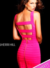 Hot Pink Mini Pink Prom Dress by Sherri Hill 2220Outlet