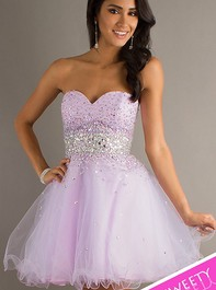 Sweet Sixteen Strapless Beaded Light Purple Party Dress by Mori Lee 9210Outlet