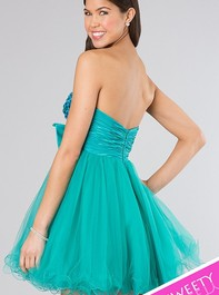 Strapless Short Baby Doll Turquoise Prom Dress by Sherri Hill 21190Outlet