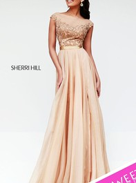 Sherri Hill Designer Evening Nude Prom Gown 11151Outlet