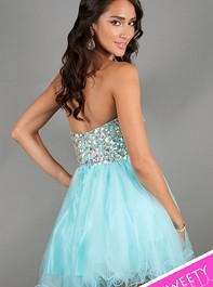 Strapless Sweet Sixteen Party Aqua Dress 4311 by Alyce ParisOutlet