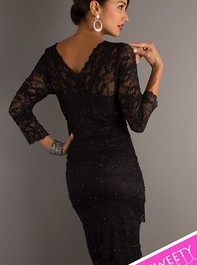 Sweet Sixteen Black Lace Cocktail Dress 269429Outlet