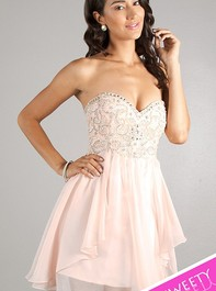 Sweet Sixteen Strapless Blush Party Dress 10069 by Dave and JohnnyOutlet