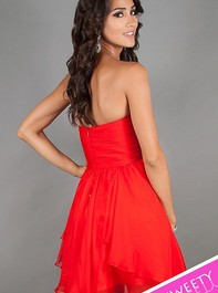 Sweet Sixteen Strapless Red Party Dress 10069 by Dave and JohnnyOutlet