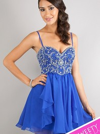 Sweet Sixteen Strapless Sapphire Party Dress 10069 by Dave and JohnnyOutlet