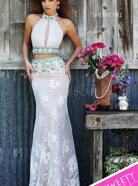 Sherri Hill 32233 Sexy Key Hole Neckline Two Piece Prom DressOutlet