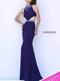 Floor Length Purple Evening Dress by Sherri Hill 32064Outlet