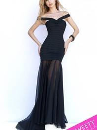 Sherri Hill 32169 Cap Sleeved Fitted Evening DressOutlet