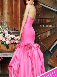 Strapless Pink Satin Mermaid Prom Dress by Sherri Hill 32235Outlet