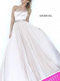 Sherri Hill 32135 Strapless Sparkly Ivory Prom DressOutlet