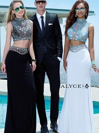 Alyce Paris 6372 Two Piece Black Long Prom DressOutlet