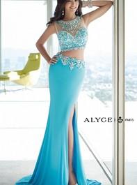 Alyce Paris 6391 Two Piece Jersey Blue Long Prom DressOutlet