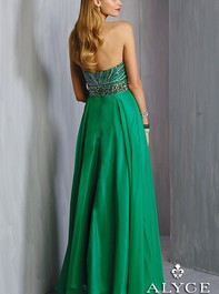 Alyce Paris 6318 Strapless Beaded Emerald Homecoming DressOutlet