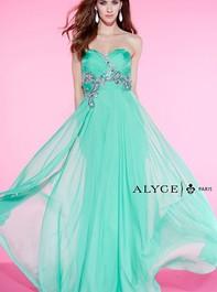 Alyce Paris 6419 Strapless Sweetheart Long Blue Prom DressOutlet