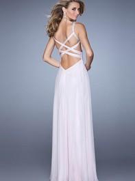 La Femme 21502 Beaded Open Back Pale Purple Prom DressOutlet