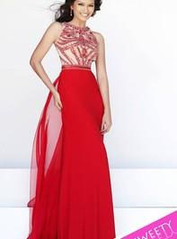 Sherri Hill 11069 Full Length Red Prom DressOutlet