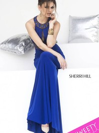 Keyhole Sexy Royal Prom Dress by Sherri Hill 11173Outlet